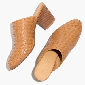 Madewell Harper Mule 7 nude amber brown leather